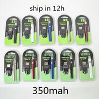 Bateria de Vape Vertex com Kit de Carregador USB 350mAh 510 Tópico PRETATE Vaporizador Bateria E Cigarros Vape Pen VV Baterias VV Vações para Atomizers