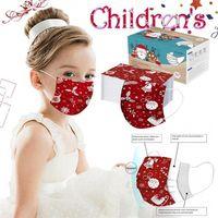 Maschere di Natale del partito Bambino monouso viso di alta qualità non tessuto del fumetto maschera di protezione 3Ply Earhook Bandage antipolvere Masque copertina