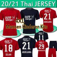 FC Twente Jersey 2020 2021 Home Away Danilo Menig Cerny Selahi Julio Pleguezuelo Homens Adultos Kits Kit Kit Futebol Shirts Uniformes