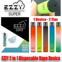 EZZY Super 2 in 1 Tek Kullanımlık Vape 2000 Puffs 950 MAh Elektronik Sigara Cihazı 6.5ml 2 Bir Kalem 5 Kombinasyon ile Vaping Deneyimi