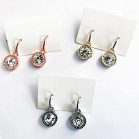Famosa estilista de Nueva York Ear Styd Mujeres Forma de corazón Pájaros Pendientes Padlock Stud Crystal Drop Pendiente Pendientes de calidad baratos con cartones