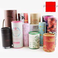 Kağıt Boru Kutuları Çay Kutular Gıda Depolama Kozmetik Ambalaj Güzel Kraft Silindirleri vb. Logolar Tasarımlar veya Boyutlar Özelleştirilebilir İşi Sonlandırın