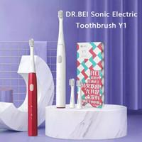 Dr.BEI Sonic Electric Dientes Cepillo de Dientes Y1 RECARGABLE 3 MODELOS A prueba de agua Dientes de limpieza oral automática con 2 cabezas de pincel