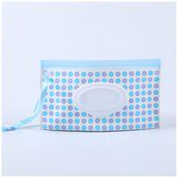 Baby Wipes Sacos de Armazenamento Show Listrado Lettices Dot Impressões De Papel Toalha Saco Fácil Transportar Wet Wet Wipe Recipiente 3 2MH E1
