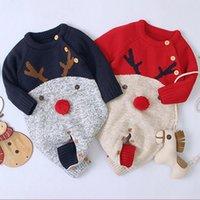 طفل بنين عيد الميلاد السروال القصير الرنة محبوك INFANTIL حللا طفل بنات السنة الجديدة زي الأطفال وزرة الملابس 0-2