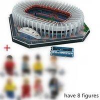 Hot New Jigsaw 3D Puzzle Architecture Stadio Francia Parc des Princes Fútbol Estadios de fútbol Juguetes Modelo Conjuntos Papel de construcción Y200413