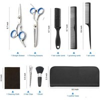 Makas Kesme CB008 11pcs Kuaförlük makas Setleri Saç Kuaför makaslama Saç Şekillendirme Aracı özel etiket oem kabul set