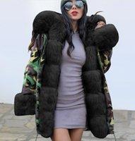 Kadın Aşağı Parkas W Kadınlar Moda Kış Isıtıcı Ceket Kamuflaj Kabarık Faux Kürk Kapüşonlu Sıcak Kalınlaşmak Açık Ceket Bayanlar Dış Giyim1