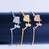 2020 ALI MODA Новый дизайн Rose Charm Charms Регулируемые цепи Женщины Мода Рождественские подарки Браслеты1