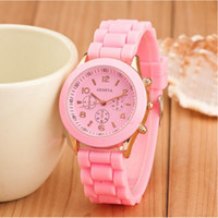 Newest Shadow geneva watch Rose Gold luxury women men watches rubber candy jelly fashion unisex silicone Alloy Shell quartz wristwatches