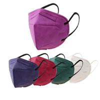 KN95 Masque usine 95% Filtre coloré masque respiratoire Respirateur charbon actif Valve 6 couche masque facial vente à chaud