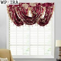Europe Valance Jacquard Curtains Kitchen Tassel Bay Window C...