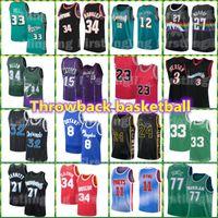 Rückgang Basketball Jersey Jimmy Giannis Butler 34 AntetokounMPO Jayson 0 Tatum Stephen Luka Curry Retro Doncic Jamal 27 Murray Männer