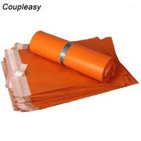 Borse da imballaggio 100 pezzi 8 taglie arancione corriere di plastica borsa Poly Mailer Autoadesivo Mailing Express Storage Storage Supplies |