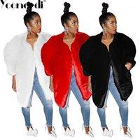 여성용 양모 yooneedi 2021 겨울 디자인 섹시한 여성 코트 3 색 스타일 오픈 스티치 전체 슬리브 긴 Outwear SMR-94091