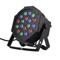 18-LED 빨간색 녹색 파란색 파 조명 음성 제어 스푸리어 프로젝터 램프 원격 컨트롤러 블랙 알루미늄 합금