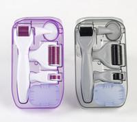 Novità 6in1 Dr.Pen Micro ago dispositivo Derma Roller Pen 300/720/1200 Pins Microneedle cura della pelle con viso spazzola di pulizia