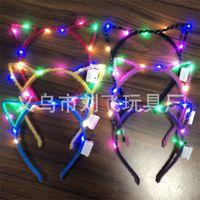 LED leuchten Toys Hair Hoop Girl Rabbit Ears Stirnband OPP Packung Cartoon Haare Band verkaufen gut mit hoher Qualität 1 7lf J1
