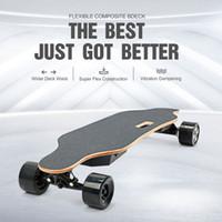 Stati Uniti Stock doppio motore elettrico Skateboard Bluetooth Remote Control Librarsi scooter smart 90 MM Ruote impermeabile Standing Skateboarding