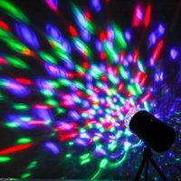 3W a colori full colour LED Voice-Activated Lampada rotante RGB Crystal Magic Ball Laser Stage Light DJ KTV LED Effetti Disco lampadina Lampadine Auto rotazione automatica