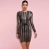 Gelegenheitskleider bis zu 90% Rabatt auf den großen Verkauf !!! ocstrade 10. Anniversay Shopping Festival! 2021 Sommer Hohe Qualität Frauen Sexy Rose Gold Bandage Dres