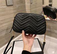 Luxurys de haute qualité G Des designers Mode Femmes Bandbody Sac Bandoulière Sacs à main Lettre Sac à main Mesuris Sac à main 2021 Chaînes Caméra Cross Corps Caméra Caméra Sacs à main