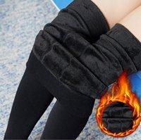 Rooftrellen moda outono e womens legging inverno alta elasticidade boa qualidade grosso calças de veludo Leggings