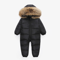 Russian Winter Infant Warm White Duck Down Rompers Children ...