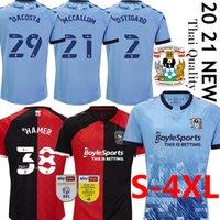 21 Coventry City Futbol Formaları Godden Ostigard Jobello Walker Da Kosta Hamer Ev Mavi Futbol Gömlek Tayland Erkekler Üniforma