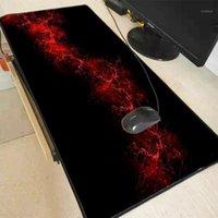 منصات الماوس المعصم تقع MRG الفضاء الليلي الأسود الأحمر السماء الحمراء كبير ماوس الفأر كبيرة الكمبيوتر الألعاب المضادة للانزلاق مع قفل حافة mat1