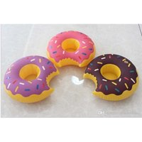 Inflatable Donuts Tubes Coke Phone Cup Holder Swim Pool Floating Toys 18cm Drink Botlle Holder Free Shipping