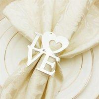 Dia dos Namorados Wedding Guardanapo Anéis de Guardanapo de Metal Titulares para Dinners Party Hotel Casamento Mesa De Mesa De Decoração Do Guardanapo 100 G2