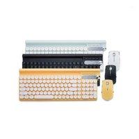 Teclado Mouse Combos 2.4Ghz Sem Fio e Kit 4000DPI impermeável para PC portátil caderno USB Gaming Teclado Gamer1