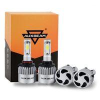 자동차 헤드 라이트 AUXBEAM 12 / 24V 72W 8000LM 6500K LED 헤드 라이트 전구 자동 전조등 조명 H7 H11 H1 H3 9005 9006 9012 5202 H27 COB1