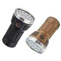 Фонарические фонари Горелки Astrolux MF01S 18x SST20 15000LM 616M Anduril UI 18650 Высокий CRU яркий поиск охотничьи горелки Detector1