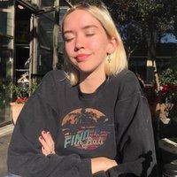 2020 Winter Warm Causal Fashion Hoddies Teens Tops Vintage Letter Printing Designer Sweatshirt Women Loose Pullovers
