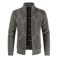 Negizber Sonbahar Kış Erkek Kazak Rahat Standı Yaka Kalın Hırka Erkekler Moda Sıcak Kazak Palto Erkekler 201221