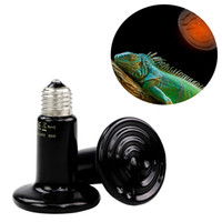 السيراميك الزواحف التدفئة مصباح الحيوانات الأليفة الحفاظ على الدفء مصباح مناسبة ل220V-240V الجهد 25-200w الأشعة تحت الحمراء أسود السيراميك