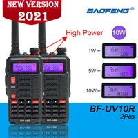 2021 UV-10R Baofeng Radyo 2 ADET Walkie Talkie Çift Bant HF Techiciver USB Şarj Yüksek Güç 10 W 2way Uzun Mesafe Radyo UV10R