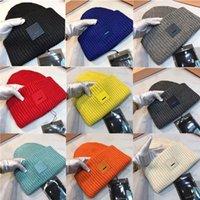 Herbst Winter Wolle Gestrickte Hut Für Männer Frauen Lächelnd Gesicht Feste Farbe Verdickte weiche warme Beanie Caps Outdoor Sport Street Hat mit Tags