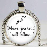 Gilmore Girls «Где вы ведете ...» Ожерелье подвеска Handmade Длинные ожерелья