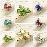 Mode Metall Serviette Schnalle Schmetterling Serviette Ring Neueste Heißer Verkauf Schmetterling Form Serviette Schnalle T9i001080