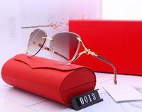جديد الفاخرة أعلى جودة الكلاسيكية الطيار نظارات مصمم ماركة أزياء رجالي إمرأة نظارات الشمس النظارات عدسات زجاجية معدنية مع صندوق