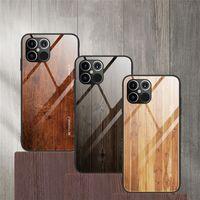 الخشب حالة نمط الزجاج لمدة 12 فون برو برو 11 ماكس الهاتف الغطاء عن اي فون XR إكسس 7 8 حالات زائد ضد الصدمات