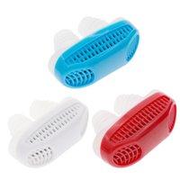 2 em 1 Anti Stop Stoping Snore Livre Magnético Silicone Snore Stopper Purificador de ar aliviar o dispositivo de sono do congestionamento nasal 3 cores DBC DH1204