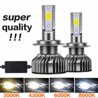 2pieces LED Auto faro 12000LM Auto LED faro H4 H1 H3 H7 H8 H9 H11 H11 H16 9005 HB3 9006 HB4 3000K 4300K 6000K 8000K 15000K