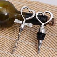 Set di tonalità del cuore Set di vino Cavatappi in metallo Opener Metallo Regalo di nozze Bomboniere Cucina Bar Strumenti 50 pezzi (25 Pairs) 08 228 J2