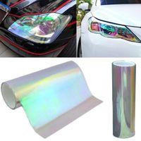 카멜레온 색상 변경 색조 비닐 랩 스티커 방수 헤드 라이트 필름 자동차 조명 램프 30 * 60cm