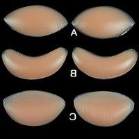 Mama mama pad de pollo Filetes de silicona potenciadores movible del sujetador del cojín del bolso de OPP Paquete de silicona cojín del pecho