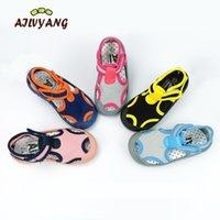 Ailvyang marca crianças verão sandálias sapatos bebê meninos meninas lycra lycra calçados de pano elástico crianças casuais casuais cor sapatos A08 Y200404